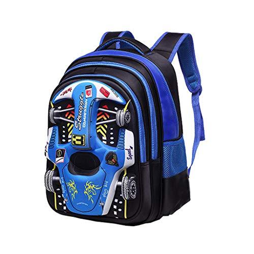 Children Backpack kinderrugzak 3D auto rugzak 6-9-12 jaar oud ademend en slijtvast jongens en meisjes tas