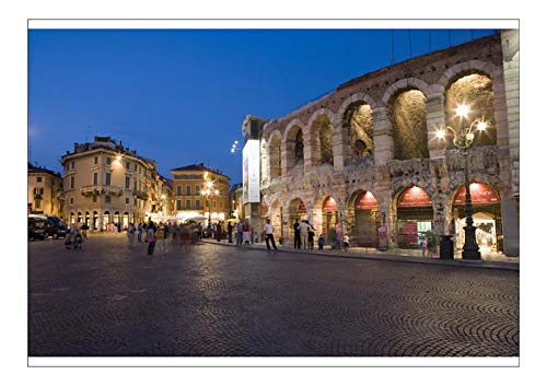 robertharding A1 Poster of Roman Arena at Night, Verona, Italy (9091315)