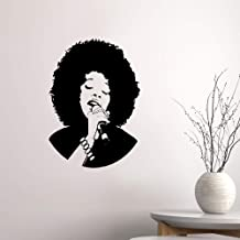 Yervt Quotes Wall Sticker Mural Decal Art Home Decor Karaoke Beautiful Woman Black African Lady Music