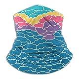 CVDGSAD Bufanda para el Cuello Cielo Azul Abstracto con Nubes al Atardecer 26cm X 30cm Sombreros para la Mano Abrigo para la Cabeza Banda para la Cabeza Deportiva Banda para el Sudor Tubo