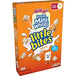 Kellogg's Frosted Mini-Wheats Little Bites, Breakfast Cereal, Original, Excellent Source of Fiber, F