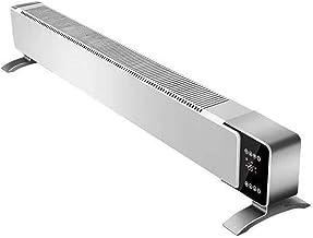 K-G Convector Calefactor Convector eléctrico Rodapié Temporizador Digital Calentador for el hogar/Invernadero - la Placa Base del radiador con Anti Frost, Control Remoto