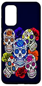 Sugar Skulls and Roses Mardi Gras Skull Holiday Galaxy Case