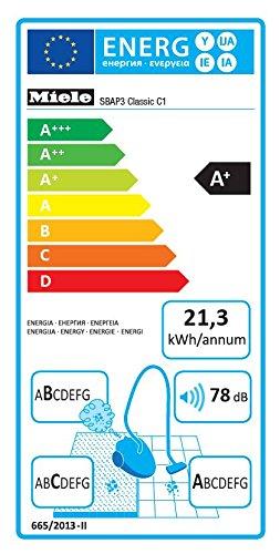 Miele Aspirateur Classic C1 EcoLine Bleu 4.5 Litre 550 Watt