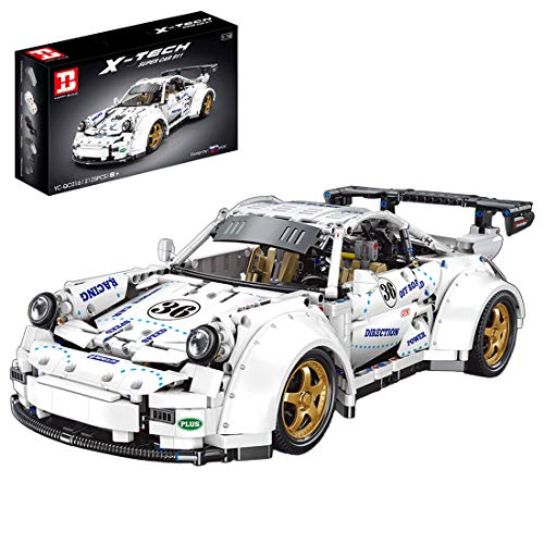ZCXX 2125 piezas de coche de carreras con bloques de construcción compatible con Lego Technic