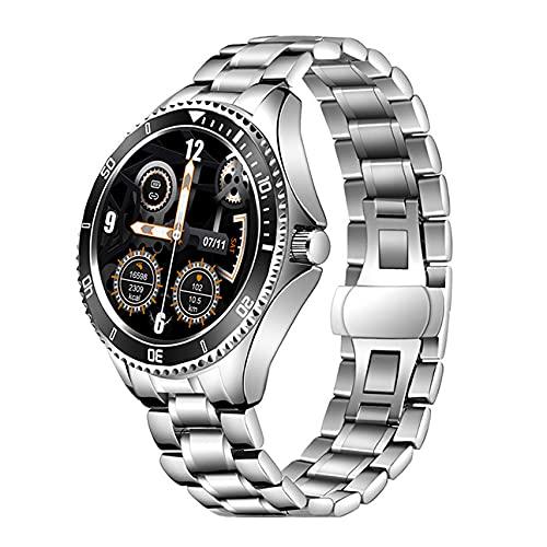 Reloj inteligente Garett Men 4S de acero plateado y negro