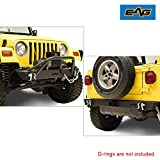 EAG Front Bumper and Rear Bumper Combo Black Textured Offroad Fit for 87-06 Wrangler TJ YJ