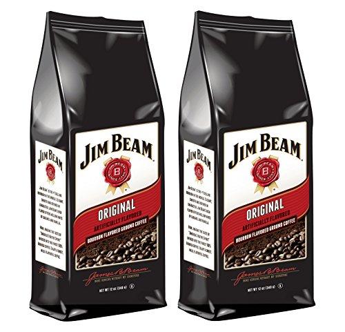 Jim Beam Original Bourbon Flavored Ground Coffee, 2 bags (12 oz ea.)