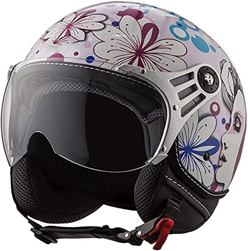 Medio Casco De Motocicleta Retro Para Adultos Para Hombres Y Mujeres, Deportes Al Aire Libre De Moda 3/4 Casco Abierto Con Certificación DOT/ECE, Ciclomotor, Scooter, Motocicleta, Casco ATV A,S