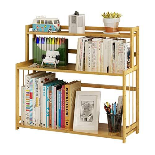 Estantería libreria Estantería simple y moderna for estudiantes Estantería de madera de bambú de tres capas Estante de almacenamiento for escritorio infantil Estantería pequeña Oficina Estanteria
