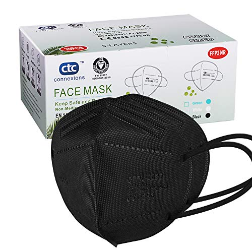 FFP2/KN95 Face Mask, 5-Layer Protective FFP2 Mask CE certified EN149...