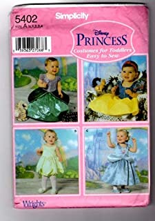 SIMPLICITY PATTERN 5402 TODDLERS COSTUMES SIZE A, 1/2, 1, 2, 3, 4