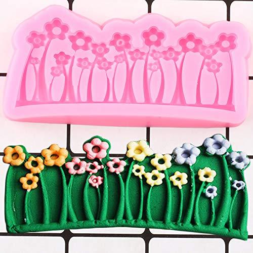 Flower Cake Border Silikonform DIY Grass Cake Fudge Kuchen Dekorationswerkzeug Keks Backen Candy Chocolate Syrup Mold