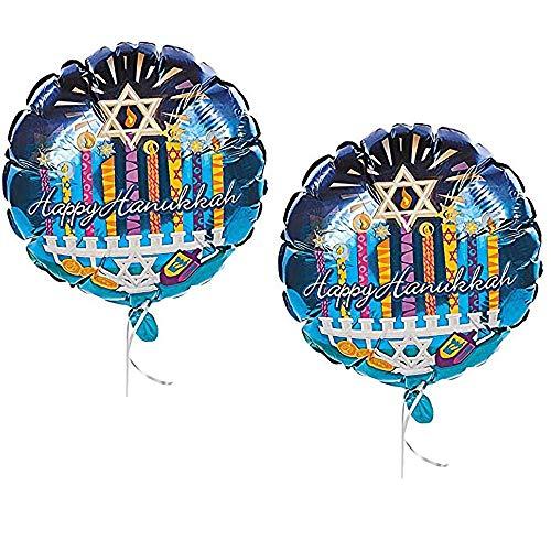 Hanukkah Balloon- Happy Hanukkah Party Balloons 18' Inch. (2-Pack)