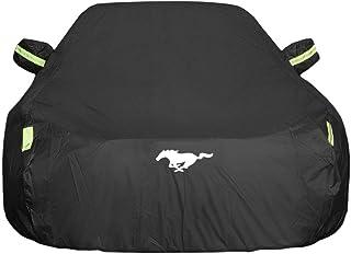 Autoabdeckung Ford Mustang Car Cover Spezielles Autoplanen Car Cover Regendicht Sonnencreme Verdickung Isolierung Car Cover (Farbe : Schwarz)