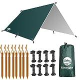 Etechydra Bâche Anti-Pluie 3 x 4m, Camping Bâche Rain Tarp Toile de Tente Ourdoor, randonnée,...