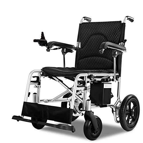 SISHUINIANHUA Silla de Ruedas eléctrica, batería de Larga duración, Scooter discapacitado para Personas Mayores, Ligero y Plegable (batería de Litio de 26AH)