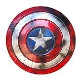 47Cm Escudo Capitan America Metal 1: 1 Adulto Apoyos de Película Niños Hierro Forjado Capitán América Shield Capitán Disfraz de Metal Shield DecoracióN de Pared de Bar 47cm