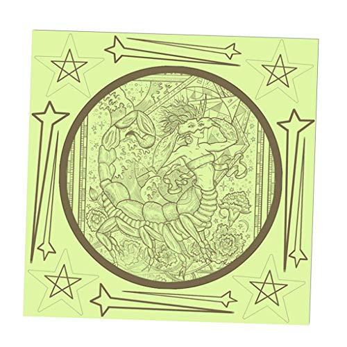 LOVIVER Sternbild Leuchtaufkleber Leuchtsticker Wasserdicht Fluoreszierend Wandaufkleber - Skorpion