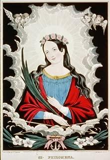HistoricalFindings Photo: St. Philomena,Religous,Virgin & Martyr,c1845,Currier & Ives Photograph