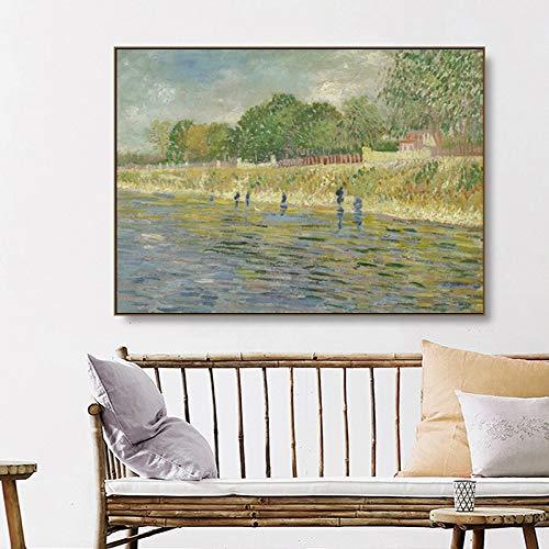 Kunst Vincent Van Gogh kunstwerk landschap impressionisme afbeelding canvas schilderij muurkunst voor woonkamer moderne wooncultuur 50x75cm