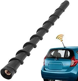KSaAuto Antenna for Nissan Rogue Pathfinder 350z Versa Note Versa Sedan Cube Leaf Navara NP300-7 Inches AM/FM Flexible Spiral Rubber Antenna Rear Top Mast Replacement