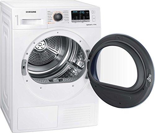 Samsung DV5000 DV81M50103W/EG Wärmepumpentrockner/A++/OptimalDry - Sensorgesteuertes Trocknen/Kondenswasserstandsanzeige - SchnellCheck/Komfort 2-in-1-Filter - 6