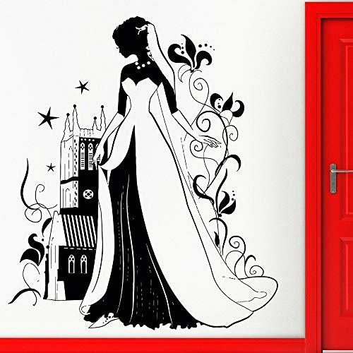 JXFM DIY Princesa Etiqueta de la Pared Mural de la Ventana para Cuento de Hadas Cuento de Hadas Vinilo calcomanía guardería niña niños decoración del Dormitorio Color o tamaño Personalizado