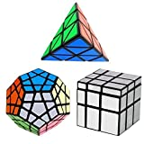YKL World Ensemble de Cubes Pyraminx , Megaminx , Mirror 3 Pack Puzzle Cube Set