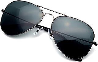 LOTSON Classisc Aviator crystal Lens Sunglasses for Women men Metal Frame 100% UV protection