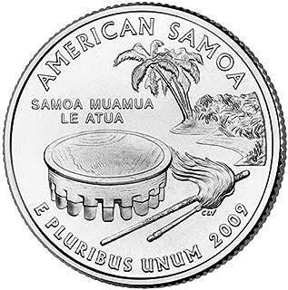 2009 P Satin Finish American Samoa Territory Quarter Choice Uncirculated US Mint