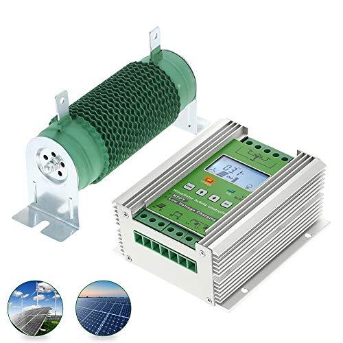 Fuhuihe 1000W Off Grid MPPT Wind Solar Hybrid Laderegler 24V 40A für 600W Wind 400W Solar mit Booster und Gratis Dump Laden