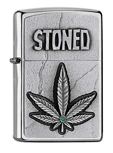 Zippo STONED-200-Zippo Collection 2019-2005904, Silber, smal