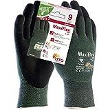 ATG 34-8743 MaxiFlex® CutTM Antitaglio Livello 3B, Grigio/Verde, Taglia 9