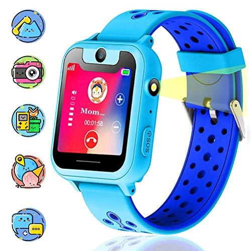Themoemoe Kids Smartwatch, Kids GPS Tracker Watch Smart...