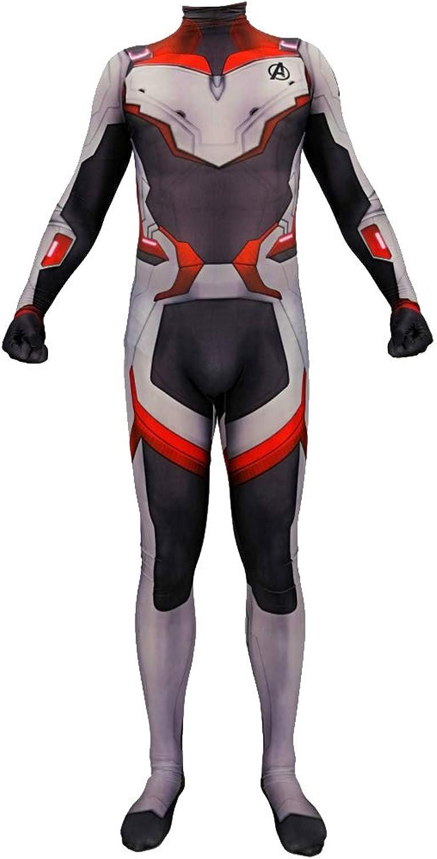 Nihiug The Avengers 4 Quantum Battlewear Anime Costume Quantum Battle Iron Man Halloween Costume Cosplay,GreyXXL(180190)