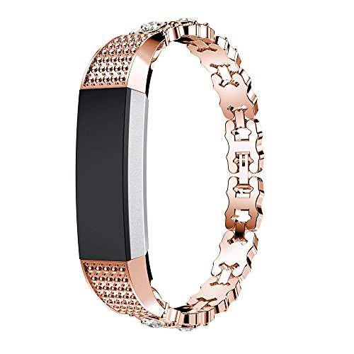 Fitbit alta/Fitbit alta HR pulsera, ihee Nue ovalada broca Acero Inoxidable Reloj de pulsera pulsera para Fitbit alta HR/Fitbit alta