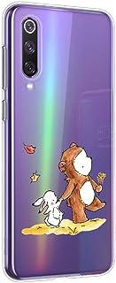 Oihxse beschermhoes voor Huawei P Smart/Enjoy 7S/Honor 9 Lite, siliconen, transparant, TPU, ultradun, zacht, met motief [o...