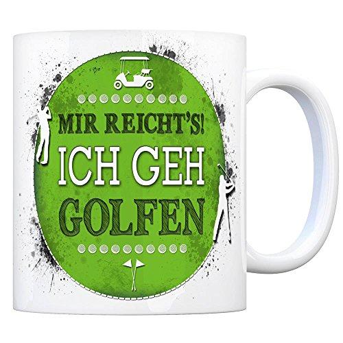 Kaffeebecher mit Spruch: Ich GEH golfen
