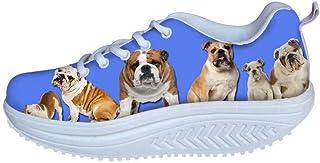 AFPANQZ Rocker Shoes Fashion Walking Sneakers Platform Heel Toning Shoes Casual Trainers