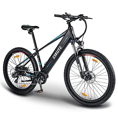 ESKUTE Bicicleta Eléctrica de Montaña 'Voyager' 27,5'' E-Bike MTB Pedal Assist, Batería de Litio 36V 12.5Ah, Bicicleta Eléctrica para Adultos 250W, Shimano 7 Velocidades, Amigo Fiable para Explorar