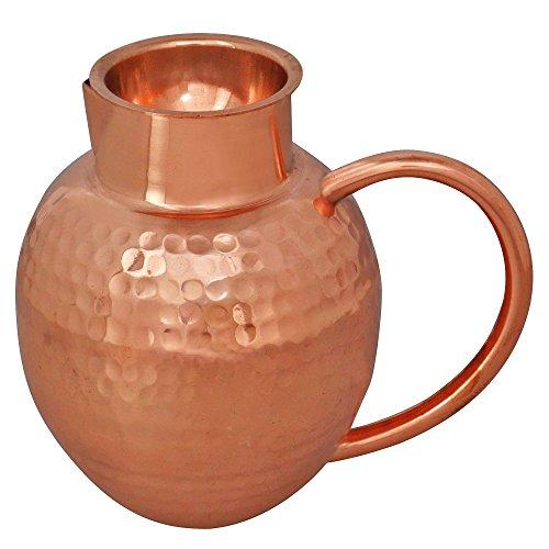 Brocca con coperchio ciotola piccola Katori, indiano etnico stoviglie di rame Drinkware,