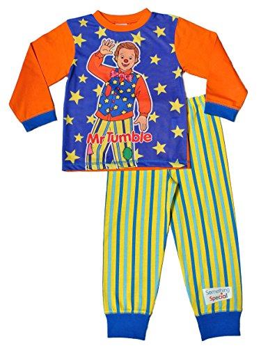 ThePyjamaFactory Something Special MR Tumble CBEEBIES Kids Pyjamas Bedtime 1 to 5 Years (2-3 Years) Blue
