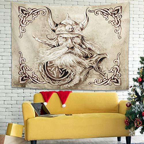 Bannihorse Tapiz de pared de Throw Bedspread Sheet Beach Tapestry, decoración para el hogar para dormitorio (200 x 150 cm), color blanco