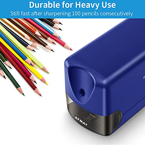 Electric Pencil Sharpener, Heavy Duty Pencil Sharpener Plug in, Classroom Pencil Sharpener for 6.5-8mm No.2 and Colored Pencils, 10000 Sharpening Times w/Upgraded Helical Blade Photo #4