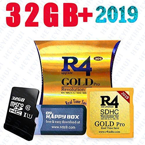 2019 Gold Pro et carte SD 32 Go, fonctionne sur DS/DS Lite/DSi/DSi XL/3DS/2DS – Téléchargement en 5 langues ES/IT/DE/FR/UK Kernel