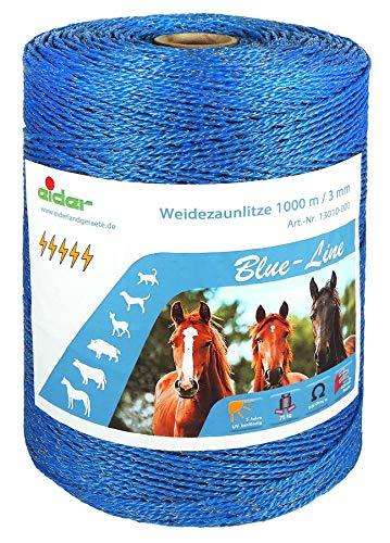 Eider 1000m Blue Weidezaunlitze, Blau-Line, 1000 m