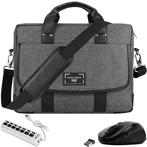 Travel Laptop Briefcase Bag with USB Hub, Mouse for Microsoft Surface Book 2 15'