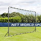 FORZA Soccer Rebound Wall (12ft x 6ft or 16ft x 7ft) | Dual-Sided Soccer Rebounder | Freestanding Spring-Loaded Soccer Rebound Net | Soccer Training Equipment