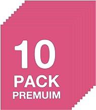 "HTV Fuchsia Heat Transfer Vinly Bundle - 10 Sheets (12"" x 10"") HTV Vinyl, PU Iron on Vinyl for Circut & Silhouette Cameo o..."